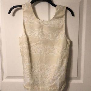 Jcrew sleeveless lace top